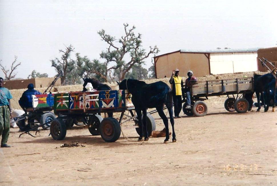 Africa village road scene