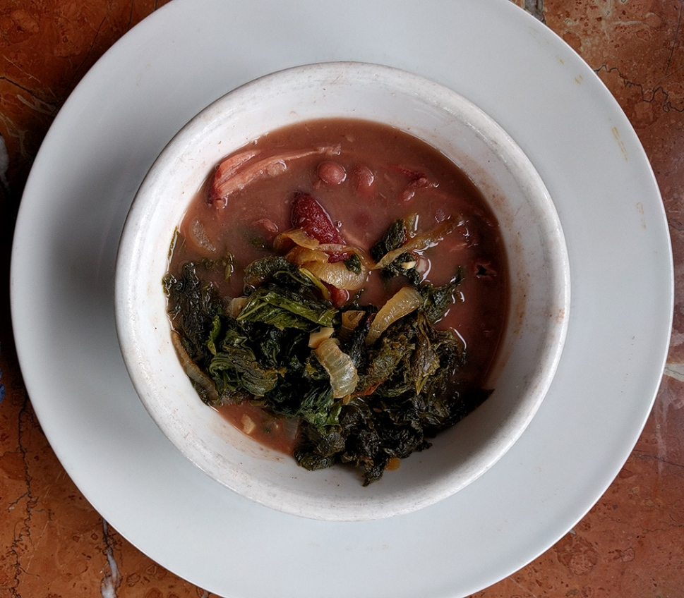 Beans and greens pottage
