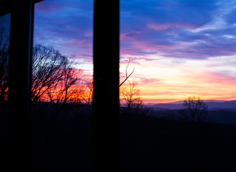 Sunrise from kitchen window rs