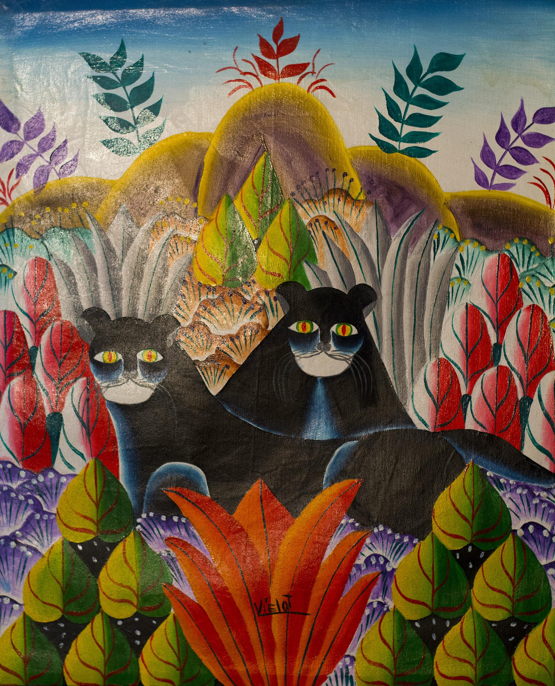 Haitian painting cats rs jpg